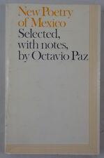 1st/1st New Poetry of Mexico - Octavio Paz Signed 1972 Secker PB