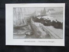 Desire Lucas - Processione in Bretagna Stampa del 1909