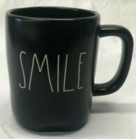 "New Rae Dunn ""SMILE"" Coffee Tea Mug BLACK Free Shipping"