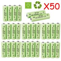 50pcs Rechargeable AA batteries Universal 700 mAh NiCd AA Garden Solar Light USA