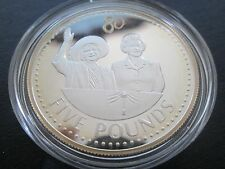 2006 diamond jubilee 1 oz gold plated silver proof £5 crown in mint condition