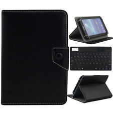 """US For 9.7""""-10.1"""" Tablet Black Universal Leather Case Cover Wireless Keyboard"""