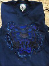Kenzo Tiger Embroidered Crewneck Sweatshirt Navy L