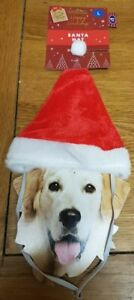 2 BRAND NEW  DOGS SANTA HAT. NEW WITH TAGS