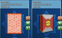 Pokemon Beta Rewards Deck Box & Card Sleeves (in-game digital gameplay) PTCGO