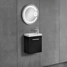 [neu.haus] Mueble de baño con lavabo incluido negro 52x45x23cm