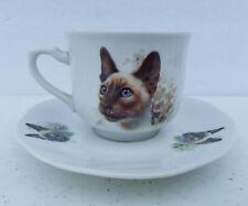 Liette International Siamese Cat Cup And Saucer