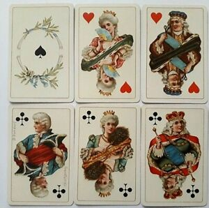 ANTIQUE PLAYING CARDS B DONDORF PATIENCE 52 CARTES DAMES No163 NO INDEX 1880