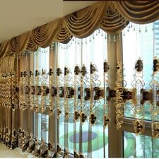 Luxury curtains for living room King Queen brown gold embroidered with the sheer