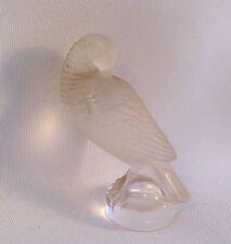 Vintage Lalique Preening Dove Partridge Quail Bird