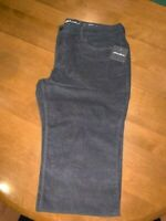 Eddie Bauer Women's Corduroy Boot Cut Pants Dark Smoke Size 16P ~ Brand New