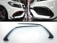Front Bumper Canards Flap Spoiler For 17-19 Mercedes Benz W176 A Class A45 A250