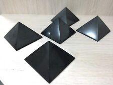 shungite polished pyramid 50mm 5 PCs, Karelia,Russia