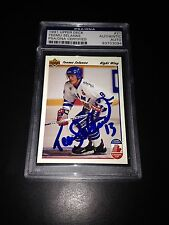 Teemu Selanne Signed 1991-92 Upper Deck Rookie Card Jets PSA Slabbed #83587877