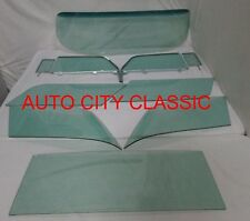 1957 CHEVROLET CHEVY NOMAD GLASS WINDSHIELD VENT DOOR IN FRAMES QUARTERS BACK