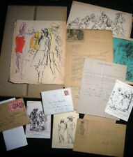 1937 - 1975 FELIKS TOPOLSKI SIGNED GROUP LETTERS ARTWORK CORRESPONDENCE EPHEMERA