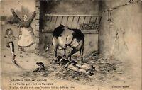 CPA Folklore - Légende de Saint-Saulge - La Vache qui a fait un Pompier (773632)