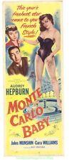MONTE CARLO BABY MOVIE POSTER AUDREY HEPBURN INSERT