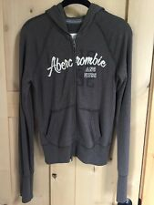 New Women's Abercrombie Army Green Full Zip Hoodie Size Large