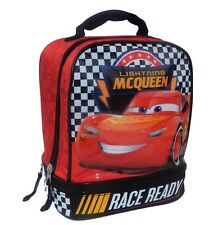 DISNEY CARS 3 McQUEEN Lead-Free Dual-Chamber Insulated Lunch Box Tote Bag