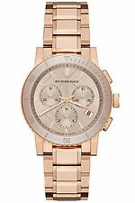 Burberry Ladies Watch Rose Gold Color Stainless Steel Chronograph BU9703 New