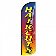 Haircuts Scissors Swooper Flag Only Windless 3' Wide Sign Banner