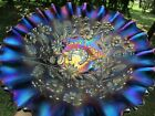 Northwood GOOD LUCK ANTIQUE CARNIVAL ART GLASS PCE BOWL~ELECTRIC PURPLE~GORGEOUS