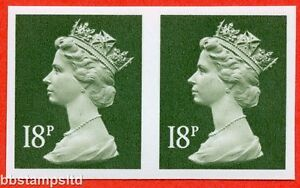 SG. X955 a. 18p deep olive - grey. IMPERF. A superb UNMOUNTED MINT.