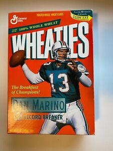 Wheaties Cereal Box NFL Dan Marino Record Breaker Miami Dolphins 1996