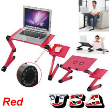 360° Adjustable Foldable Laptop Notebook PC Desk Table Stand Bed W. Cooling Fan