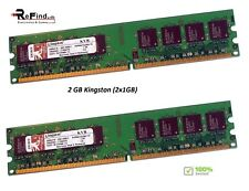 2GB RAM (2x1Gb) KINGSTON DDR2 KVR667D2N5/1G PC2 5300 Non-ECC DIMM memoria RAM