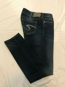 (*-*) SILVER JEANS * Womens SUKI MID SKINNY Blue Jeans * Size 30 x 31