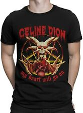 Celine Dion Vintage Death Metal T-Shirt, My Heart Will Go On Funny Men's Tee