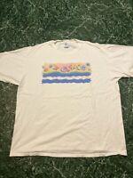 Vintage 1994 Hyatt Regency Cerromar Beach T Shirt Sz XXL Jerzees Tag Made In uSA