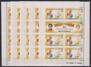 P459. 5x Montserrat - MNH - Famous People - Royal Wedding