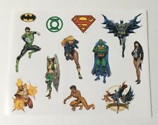 """Justice League Stickers Decal Sheet Sticker 5.75"""" x 4"""" DC Comics NEW"""
