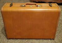 """Vintage SAMSONITE Shwayder Bros 1940's 1950's Brown 21"""" suitcase luggage"""