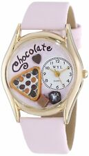 Whimsical Watches C0310005 Gold-tone Chocolate Lover Pink Leather BRAND NEW!!