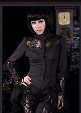 Rq-Bl black gothic blouse M