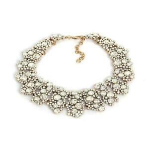 New Fashion Rhinestone   alloy Short Statement Party necklace