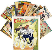 Postcards Pack [24 cards] Bikes Cycling Vintage Art Deco Posters CC1094