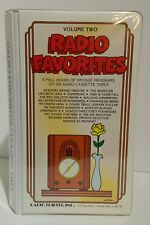 RADIO FAVORITES Vol 2 - 9 hrs of programs on 6 cassettes - RADIO SPIRITS 1991 VG