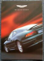 ASTON MARTIN DB7 GT Sports Car Sales Brochure c2002 #AML698876