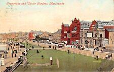 MORECAMBE LANCASHIRE UK~PARADE & WINTER GARDENS~POSTCARD 1908