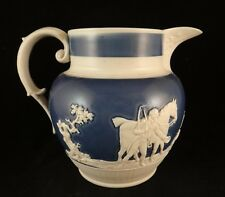 "Early English Staffordshire Ironstone Pitcher. c. 1820's. 6 3/8"" tall, 7 ¾"" wide"