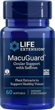 Life Extension MacuGuard Ocular Support with Saffron 60 softgels