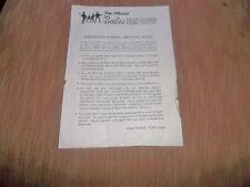 THE BEATLES OFFICIAL RARE FAN CLUB MEMBERSHIP RENEWAL LETTER. GENUINE ITEM 1971.