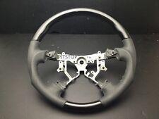 Toyota Land cruiser FJ100 FJ120 black PIANO wood leather steering wheel-SPORTS