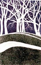 "Robert Fagg Woodcut  ""Trees On a Hill # 2"" SFA Art"