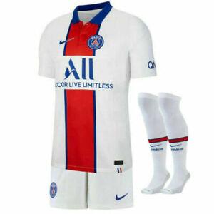 20/21 Paris Saint-Germain Kids Adults Away Football Kits Jersey 10Neymar 7Mbappé